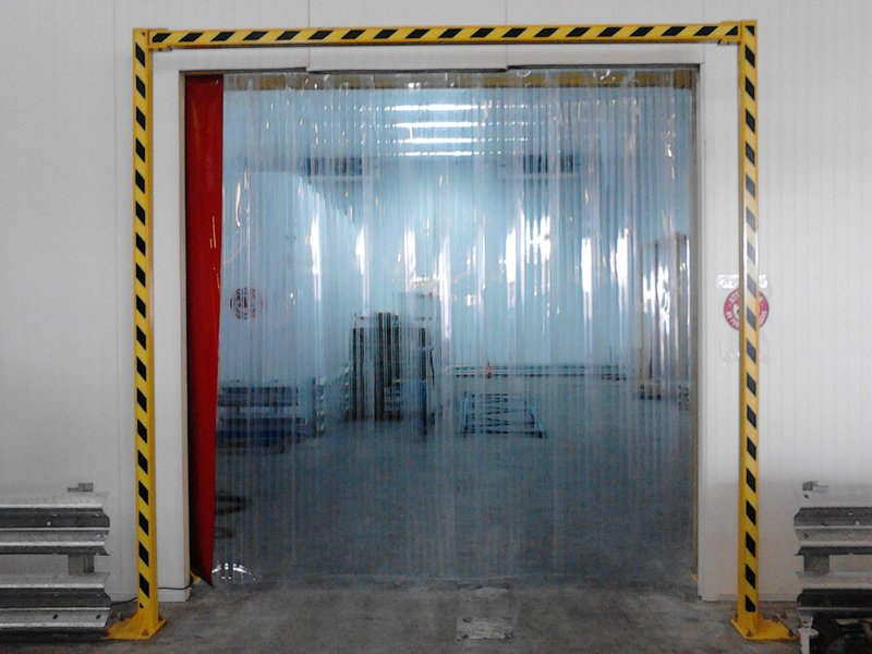 3m X 3m Reinforced Warehouse Curtain On Swivel Hinges